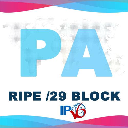Купить блок IPv6 /29 PA RIPE